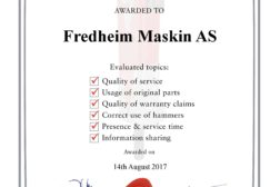 Rammer utvider garanti for Fredheim Maskin