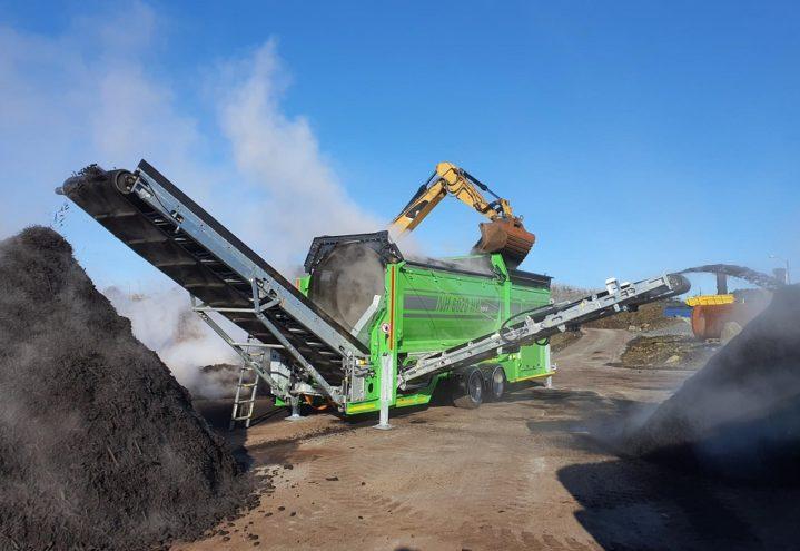Neuenhauser NH6020 trommelsikt - sortering klebrig kompost